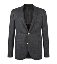 Lanvin Tweed Blazer Male Dark Grey