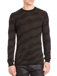 Hugo Boss Virgin Wool Regular Fit Sweater Dark Green