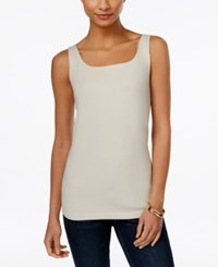 Styleandco. Style And Co. Petite Shelf Bra Tank Top Only At Macy's Polished Sand