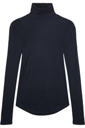J.Crew Tencel And Cashmere Blend Turtleneck Sweater Navy