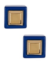 Marc By Marc Jacobs Metal Kandi Square Stud Earrings Blue