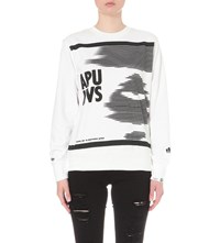 Aape By A Bathing Ape Graphic Print Cotton Blend Sweatshirt Whx