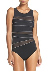 Miraclesuitr Women's Miraclesuit Silver Streak One Piece Swimsuit