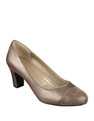 Easy Spirit Raphael Leather Dress Pumps Copper