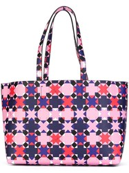 Emilio Pucci Geometric Pattern Medium Tote Multicolour