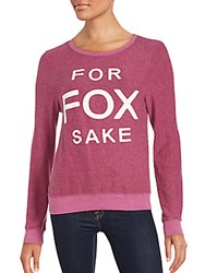 Wildfox Couture Scoopneck Long Sleeve Pullover Witchberry
