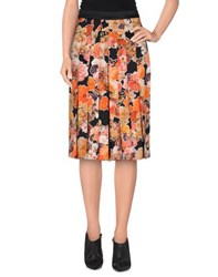 Givenchy Skirts Knee Length Skirts Women Red