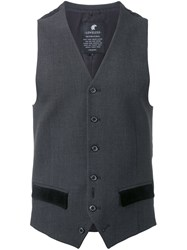 Loveless Flap Pockets Vest Grey