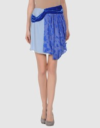 Michael Van Der Ham Skirts Knee Length Skirts Women Bright Blue