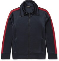 Burberry Jersey Zip Up Sweatshirt Navy
