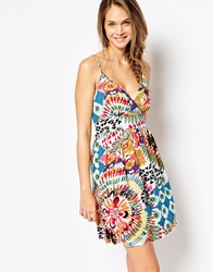 Pussycat London Sun Dress In Multi Floral Print