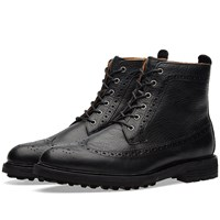 Polo Ralph Lauren Nickson Brogue Boot Black