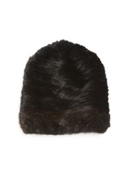 Sherry Cassin Mink Fur Hat Black Mahogany