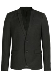 The Kooples Pinstriped Wool Blazer Black