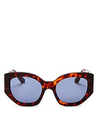 Elizabeth And James Anderson Oversized Square Sunglasses 57Mm Tortoise Blue Solid
