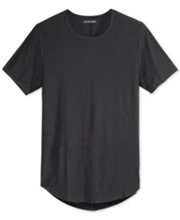 Jaywalker Men's Slub Curved Hem Tall T Shirt Black