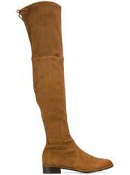 Stuart Weitzman Thigh High Boots Brown