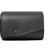 Valextra Pebble Grain Leather Watch Roll Anthracite
