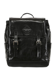 The Bridge Hand Painted Leather Backpack Black