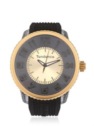 Tendence Flash Led Black And Gold Watch
