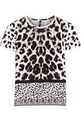 Versus Animal Print Stretch Cotton T Shirt