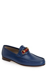 Gucci 'New Classic' Bit Loafer Men Royal Blue Leather