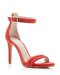 Kenneth Cole Brooke Ankle Strap High Heel Sandals Tomato