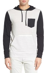 Rvca Men's 'Set Up' Lightweight Jersey Hoodie Vintage White