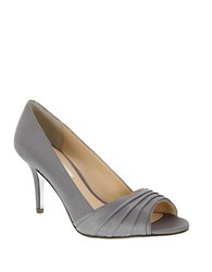 Nina Vesta Peep Toe Pump Grey