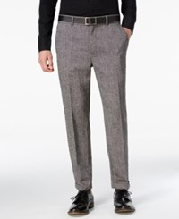 Guess Men's Laurel Tweed Tapered And Cropped Pants Jet Black Multi