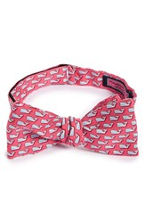 Vineyard Vines Men's Diver Whale Silk Bow Tie Raspberry