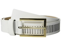 Vince Camuto 30Mm Smooth Panel W Perf White Women's Belts