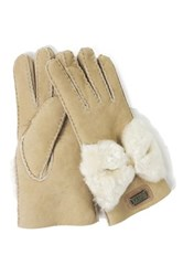 Australia Luxe Collective Bowie Genuine Shearling Gloves White