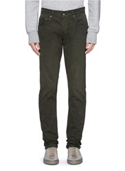 Rag And Bone 'Fit 2' Brushed Cotton Twill Pants Green