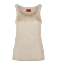 Missoni Metallic Lurex Knit Tank Top Female Gold