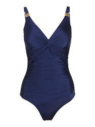 Biba Goddess Twist Swimsuit Navy