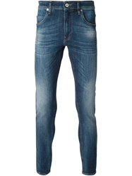 Love Moschino Faded Skinny Jeans Blue
