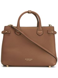 Burberry 'Banner' Tote Brown