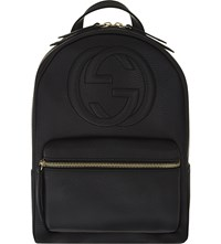 Gucci Soho Leather Chain Backpack Black