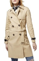 Women's Topshop Military Trench Coat