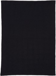 Christophe Lemaire Navy Wool Scarf