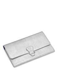 Aspinal Of London Travel Wallet Classic Silver