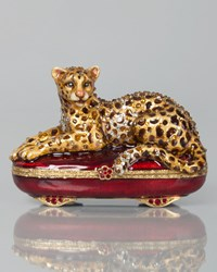 Leopard Box Multi Colors Jay Strongwater