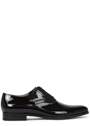 Christian Dior Black Patent Leather Derby Shoes