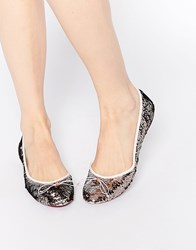 Ted Baker Imme Rose Gold Sequin Ballet Flat Shoes Rosegold