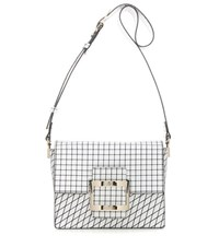 Roger Vivier Viv' Mini Printed Leather Shoulder Bag White