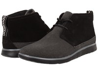 Ugg Freamon Black Canvas Men's Lace Up Boots