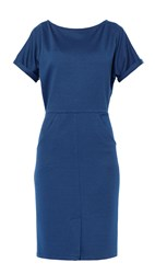 Maiocci Collection Fitted Day Dress Blue