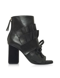 Emilio Pucci Black Leather Ankle Boot