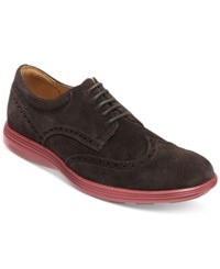 Cole Haan Men's Grand Tour Wing Tip Oxfords Men's Shoes Dark Brown